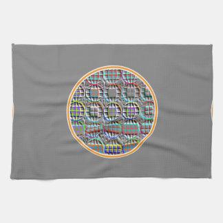 Arte redondo grabado en relieve del círculo de la toallas