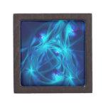 Arte refractado del fractal del extracto del espac cajas de recuerdo de calidad