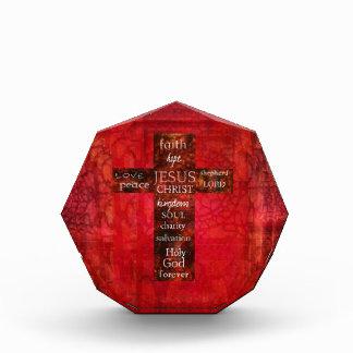 Arte religioso contemporáneo cruzado cristiano roj