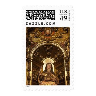 Arte religioso que representa a Santa Teresa 2 Timbres Postales