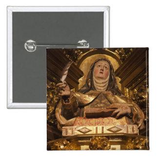Arte religioso que representa a Santa Teresa Pin Cuadrada 5 Cm