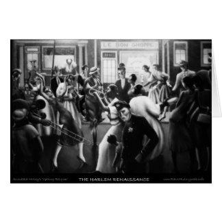 """Arte renacentista de Harlem - """"consiguiendo la Tarjeta De Felicitación"""