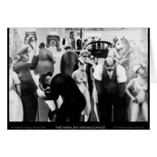 "Arte renacentista de Harlem - ""correa negra "" Felicitaciones"