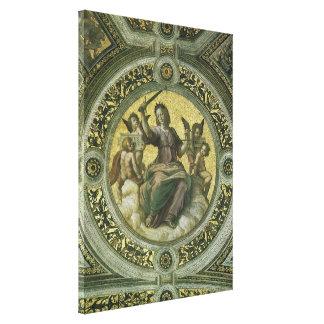 Arte renacentista del vintage, justicia por impresión en tela