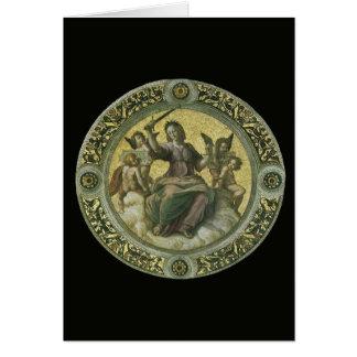 Arte renacentista del vintage, justicia por tarjeta de felicitación