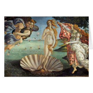 Arte renacentista, el nacimiento de Venus por Tarjeta De Felicitación