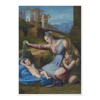 Arte renacentista Madonna con la diadema azul Fotografía