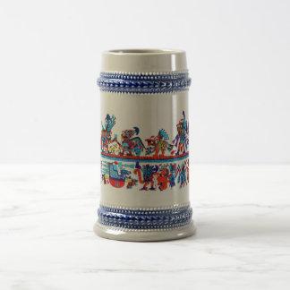 arte replegado del moche jarra de cerveza