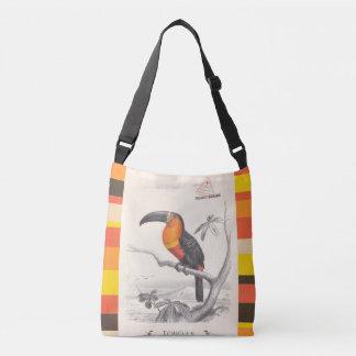 Arte responsable del viaje del pájaro de Toucan Bolsa Cruzada