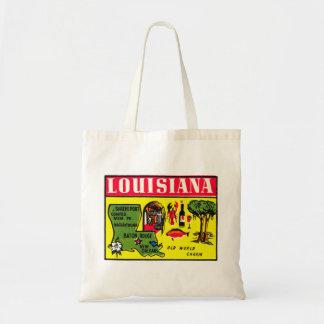 Arte retro de la etiqueta del kitsch del vintage d bolsa tela barata