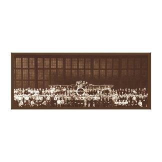 Arte RETRO de la pared del EQUIPO 1941 del AVIÓN Y Lona Envuelta Para Galerias