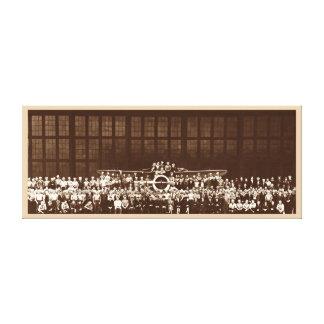 Arte RETRO de la pared del EQUIPO 1941 del AVIÓN Y Impresiones De Lienzo