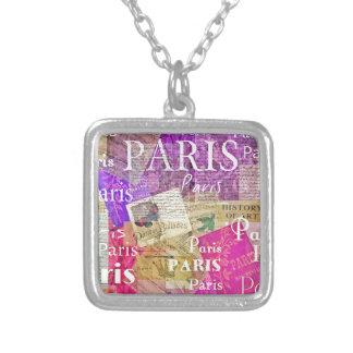 ARTE retro de la torre Eiffel de París del vintage Colgante Personalizado