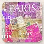 ARTE retro de la torre Eiffel de París del vintage Posavasos