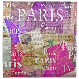 ARTE retro de la torre Eiffel de París del vintage Servilleta