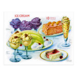 Arte retro del desierto de la gelatina de la comid postal
