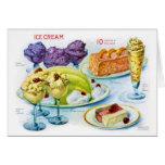 Arte retro del desierto de la gelatina de la tarjeta de felicitación