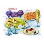 Arte retro del desierto de la gelatina de la postal