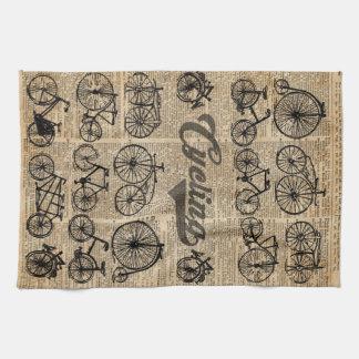 Arte retro del diccionario del ejemplo del vintage toalla