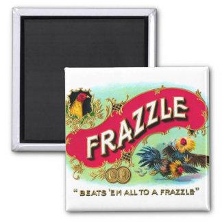 Arte retro del Frazzle de la caja de cigarros del  Imán Cuadrado