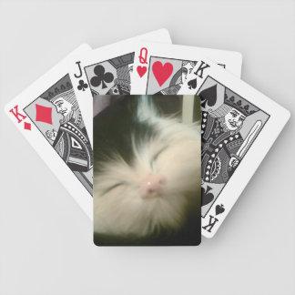 Arte retro del gato del gatito del gatito blanco d barajas de cartas