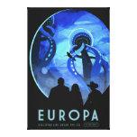 Arte retro del viaje espacial del Europa