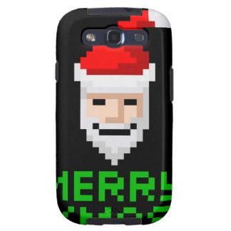Arte retro Santa del pixel de la arcada Galaxy S3 Fundas