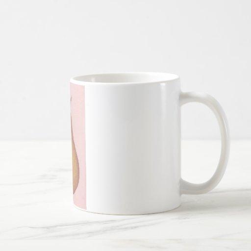 Arte retro urbano rosado de la pera tazas de café
