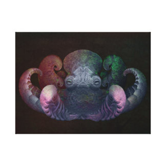 Arte rizado del compuesto del pulpo del fractal co lienzo envuelto para galerías