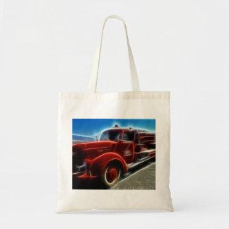 Arte rojo antiguo brillante hermoso del coche de b bolsas de mano