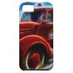 Arte rojo antiguo brillante hermoso del coche de b iPhone 5 Case-Mate cárcasas