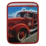 Arte rojo antiguo brillante hermoso del coche de b funda para iPads