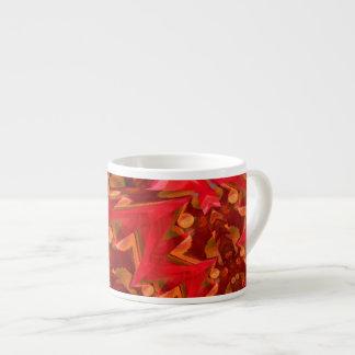 Arte rojo de Digitaces del relámpago Taza Espresso