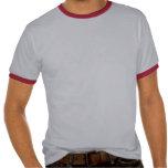 Arte rojo de la paz del tatuaje camiseta