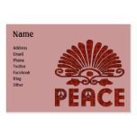 Arte rojo de la paz del tatuaje tarjeta personal