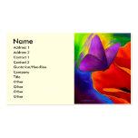 Arte rojo de la pintura de la mariposa de la amapo plantilla de tarjeta de visita