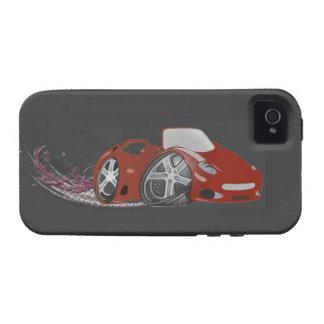 Arte rojo del coche de deportes del dibujo animado Case-Mate iPhone 4 carcasas