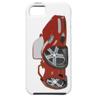Arte rojo del coche del dibujo animado iPhone 5 Case-Mate funda