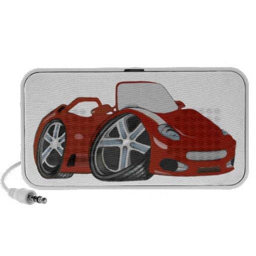 Arte rojo del coche del dibujo animado mp3 altavoz