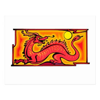Arte rojo del dibujo animado del dibujo de la ficc tarjeta postal