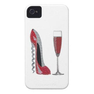 Arte rojo del estilete del sacacorchos y del iPhone 4 carcasas