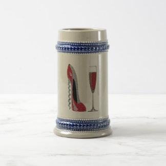 Arte rojo del estilete del sacacorchos y del vidri tazas