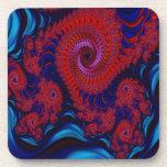 Arte rojo del fractal Dragon2