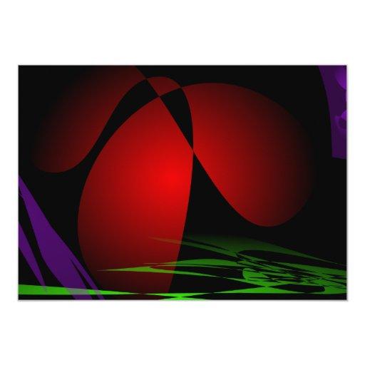 """Arte rojo del iris invitación 5"""" x 7"""""""