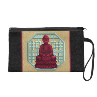 Arte rojo del pixel de Buda