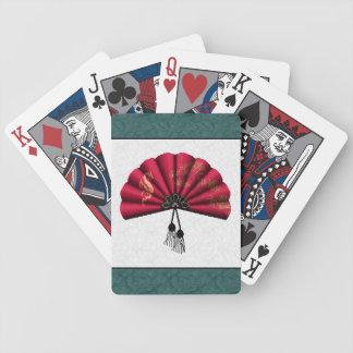 Arte rojo del pixel de la fan del dragón baraja cartas de poker