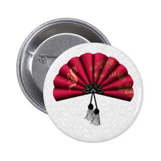 Arte rojo del pixel de la fan del dragón pin redondo 5 cm