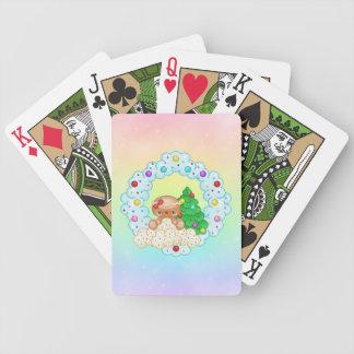 Arte rojo del pixel de la guirnalda del chica del baraja de cartas