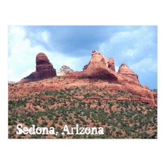 Arte rojo del sudoeste de la postal del desierto d