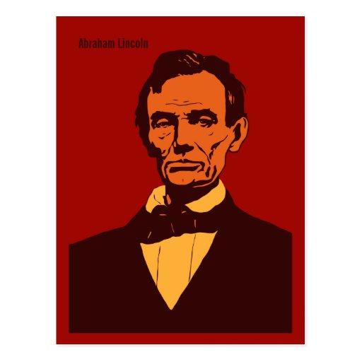 Arte (rojo) del vector de Abraham Lincoln Tarjetas Postales